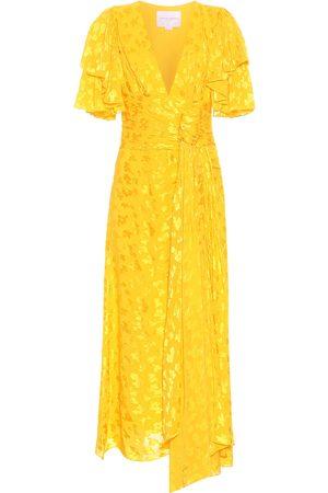 Carolina Herrera Asymmetric jacquard midi dress
