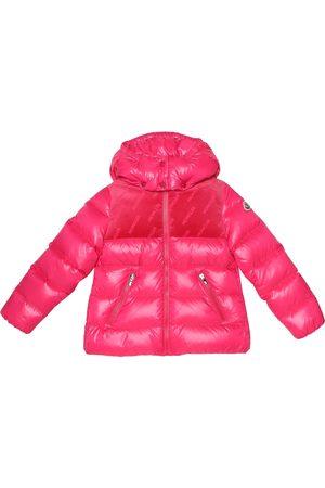 Moncler Paspale velvet-trimmed down jacket