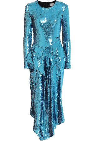 THORNTON BREGAZZI Valena asymmetric sequined dress