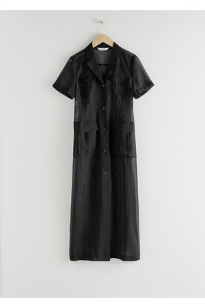 & OTHER STORIES Sheer Patch Pocket Maxi Dress
