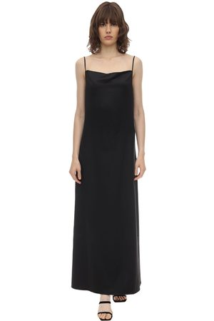 Aéryne Long Wrinkled Satin Cami Dress
