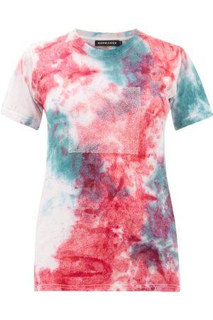 GERMANIER Crystal Logo Tie Dyed Cotton T Shirt - Womens - Multi