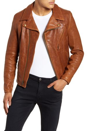 Schott NYC Men's Leather Moto Jacket