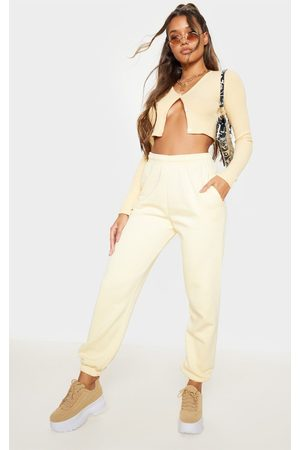 PRETTYLITTLETHING Pale Casual Joggers