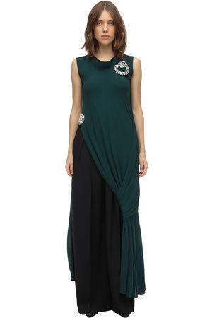 J.W.Anderson Layered & Draped Fluid Jersey Dress Top