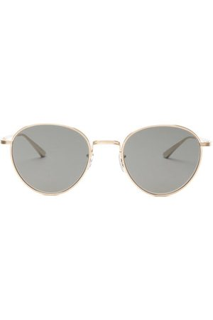 The Row Women Round - X Oliver Peoples Brownstone 2 Round Sunglasses - Womens - Dark Grey