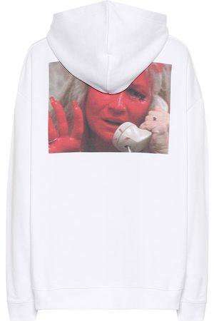 RAF SIMONS Printed cotton hoodie