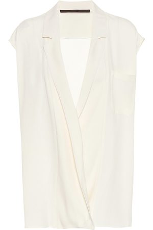 Haider Ackermann Crêpe sleeveless wrap top