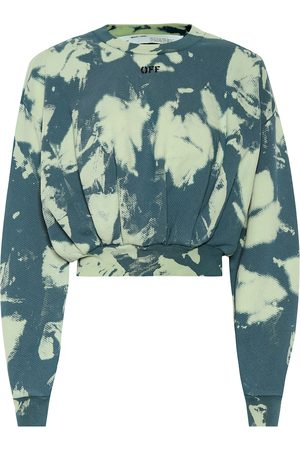 OFF-WHITE Tie-dye printed cotton sweater