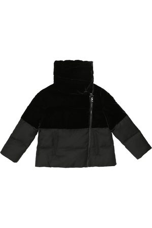 Emporio Armani Velvet and twill puffer jacket
