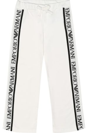 Emporio Armani Logo cotton-jersey trackpants