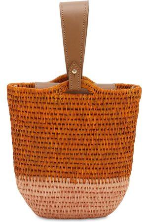 KHOKHO Zandi Raffia Bucket Bag