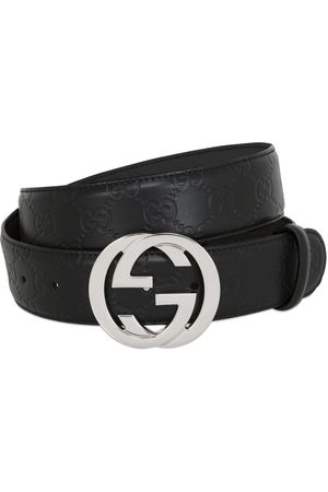 Gucci Men Belts - 40mm Gg Embossed Logo Leather Belt