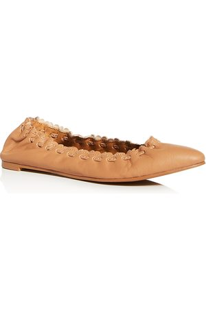 See by Chloé Women's Pointed-Toe Ballet Flats
