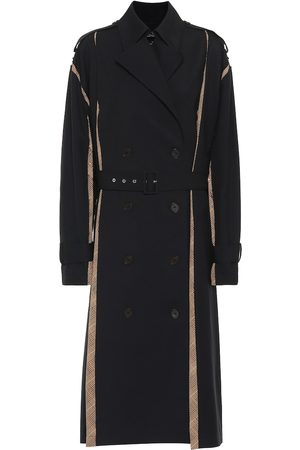 Rokh Twill and crêpe trench coat