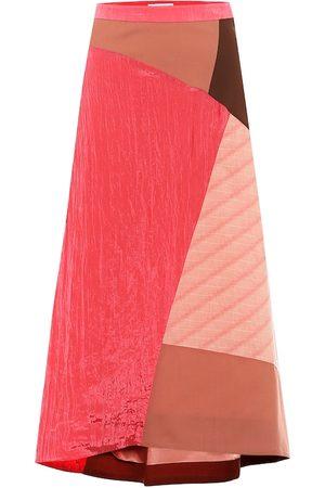 REJINA PYO Ava patchwork midi skirt