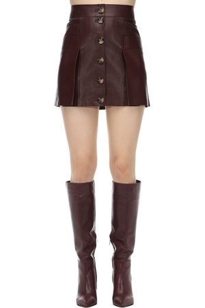 DODO BAR OR Leather Mini Skirt