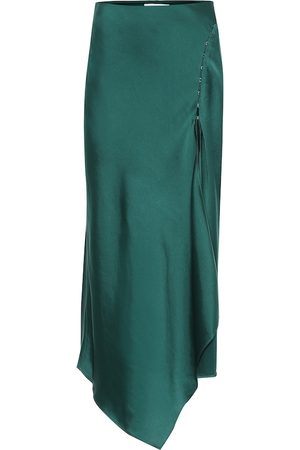 JONATHAN SIMKHAI Asymmetric satin midi skirt