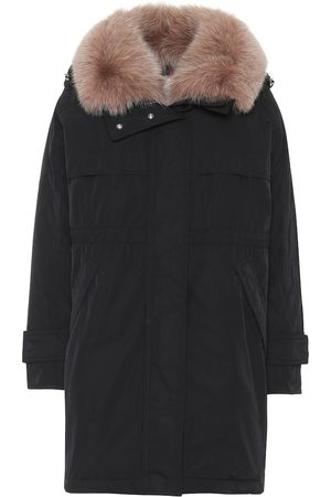 Moncler Lagopede fur-trimmed down coat