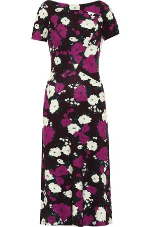 Erdem Vanya floral ponte midi dress
