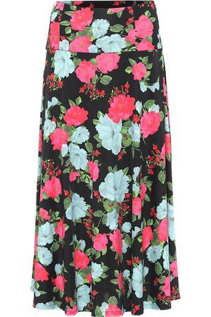 Erdem Women Midi Skirts - Elvin floral jersey midi skirt