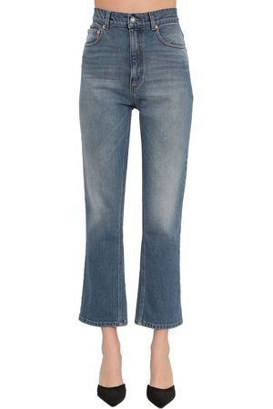 MAGDA BUTRYM High Waist Straight Cotton Jeans
