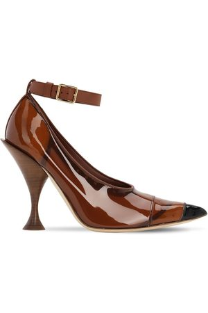 Burberry 105mm Evan Patent Leather Pumps