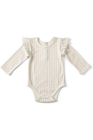 Pehr Infant Girl's Stripes Away Ruffle Bodysuit