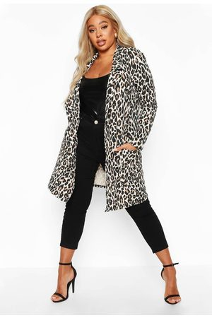 Boohoo Womens Plus Leopard Print Duster - - 12