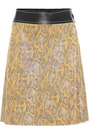 Stand Studio Elene snake-effect leather miniskirt