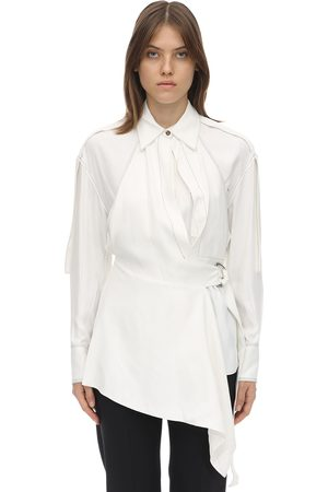 Proenza Schouler Oversize Viscose Blend Gabardine Shirt