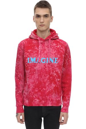 DARKOVELI Imagine Bleach Cotton Jersey Sweatshirt