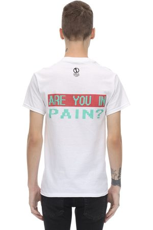 DARKOVELI Are You In Pain? Cotton Jersey T-shirt