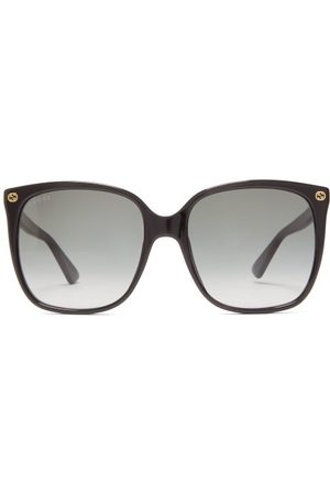 Gucci GG-plaque Square Acetate Sunglasses - Womens