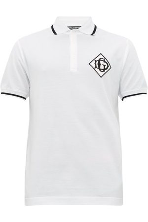 Dolce & Gabbana Dg-logo Cotton-piqué Polo Shirt - Mens