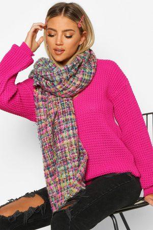 Boohoo Womens Boucle Oversized Blanket Scarf - One Size