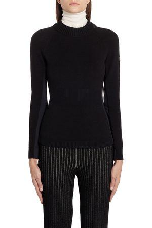Moncler Women's Multi Contrast Wool Blend Turtleneck Sweater