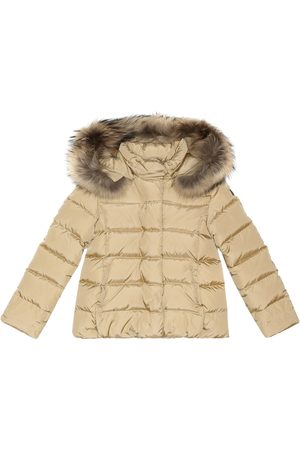 Il gufo Girls Jackets - Fur-trimmed quilted jacket