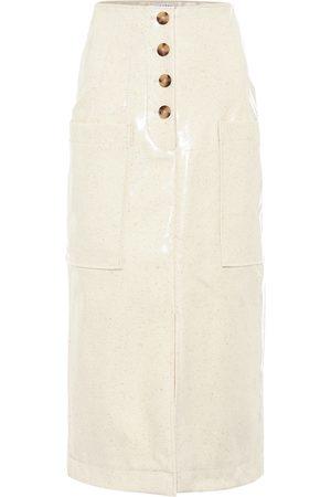 REJINA PYO Women Midi Skirts - Carmen laminated wool midi skirt