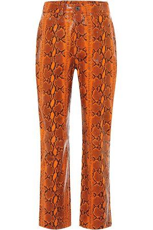 GRLFRND Shiloh snake-effect leather pants