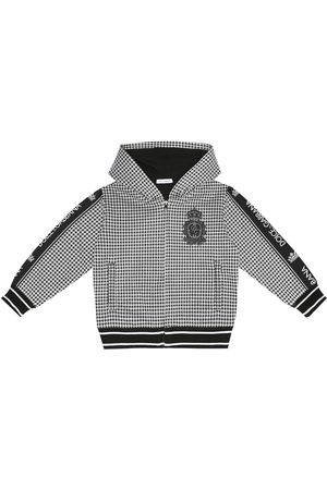 Dolce & Gabbana Checked cotton-blend hoodie