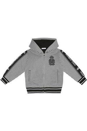 Dolce & Gabbana Checked cotton-blend hoodie