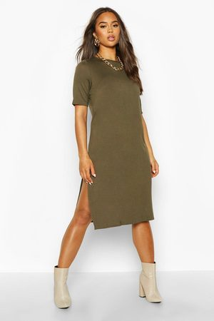 Boohoo Womens Split Midi T-Shirt Dress - - 4