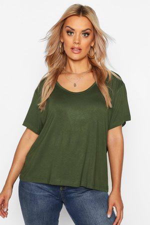 Boohoo Women T-shirts - Womens Plus Super Soft Oversized Basic T-Shirt - - 12