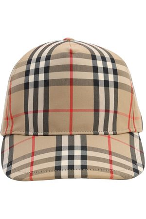 Burberry Men Hats - Vintage Check Print Canvas Baseball Hat