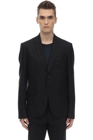 JUNYA WATANABE Silk & Wool Jacket W/ Cotton Canvas Back