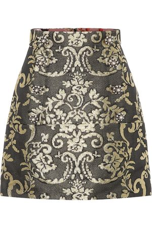 Dolce & Gabbana Cotton-blend brocade miniskirt