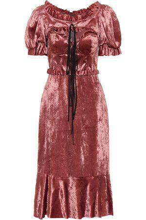 BROCK COLLECTION Petya velvet midi dress
