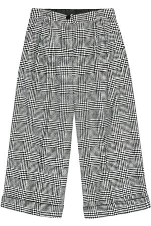 Dolce & Gabbana Checked wool-blend pants