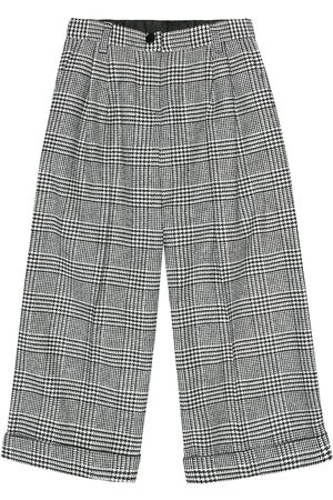 Dolce & Gabbana Checked wool-blend pants